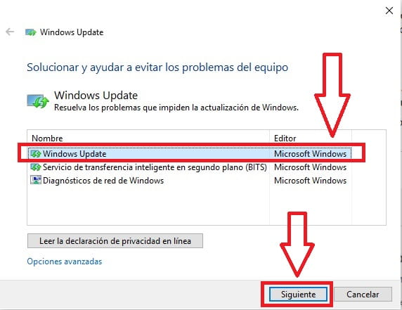 windows update no actualiza a windows 10