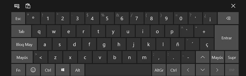 activar teclado de pantalla windows 10