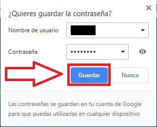 actualizar contraseña google chrome.