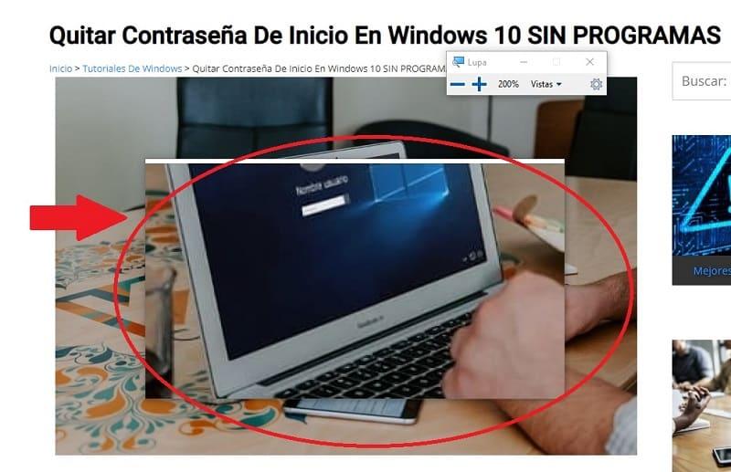 como ajustar el zoom en windows 10