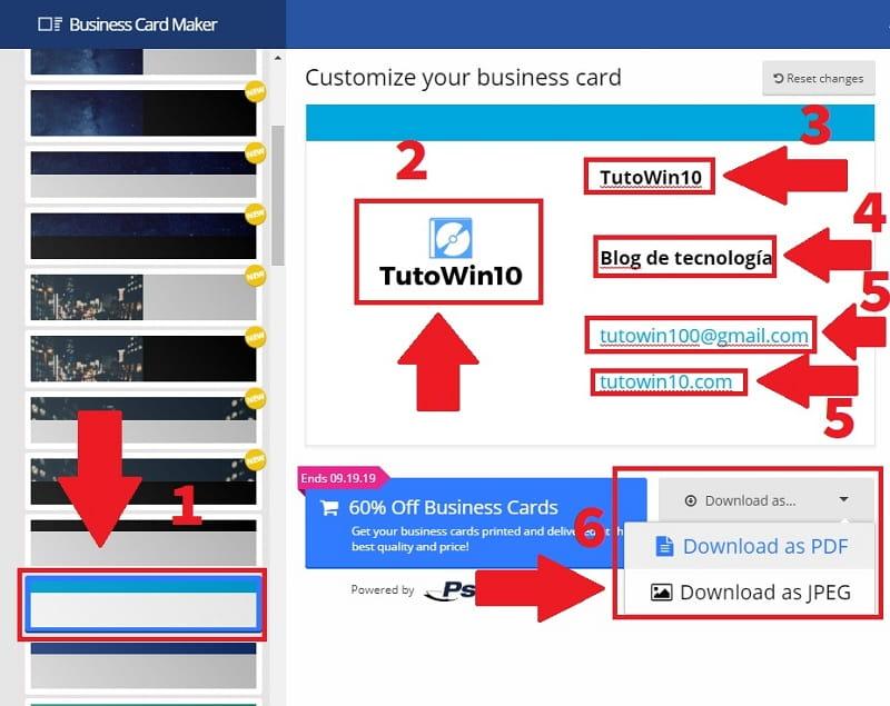 crear tarjetas personalizadas para imprimir