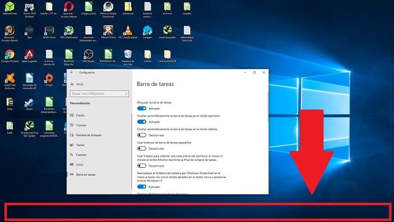 ocultar barra de tareas en modo pantalla completa