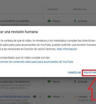 solicitar revision video desmonetizado en youtube.