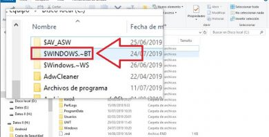 $windows bt que es esta carpeta