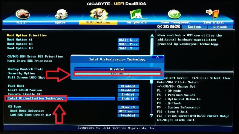 como activar virtualization technology