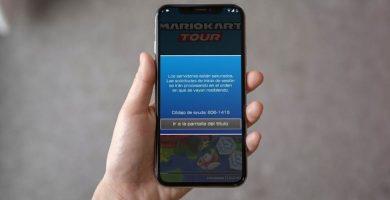 ¿ qué es el error 806-1415 de Mario Kart Tour ?.