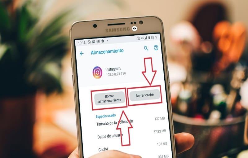 instagram se ha detenido samsung
