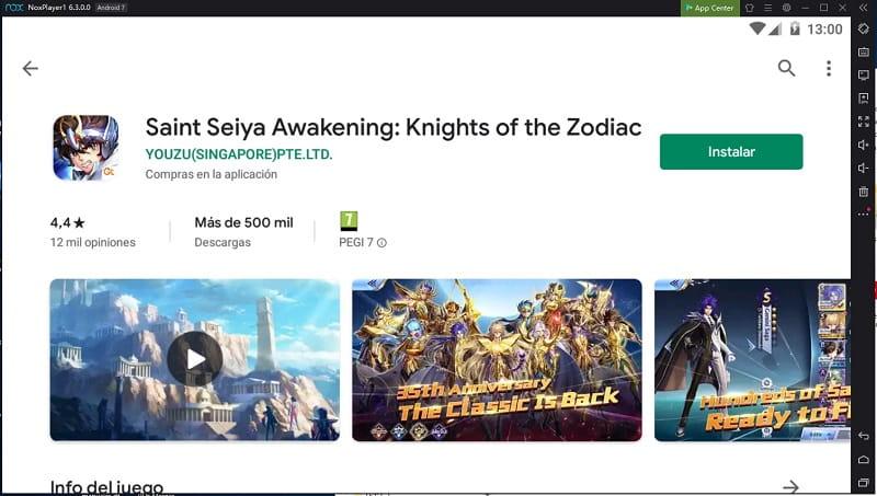 jugar saint seiya awakening en computador.