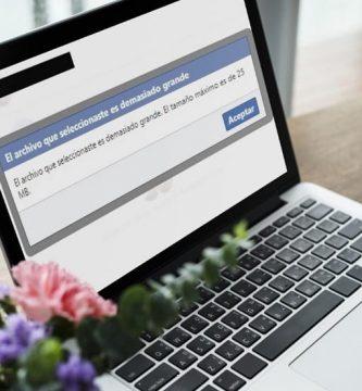 como se envian archivos mayores de 25mb por facebook.
