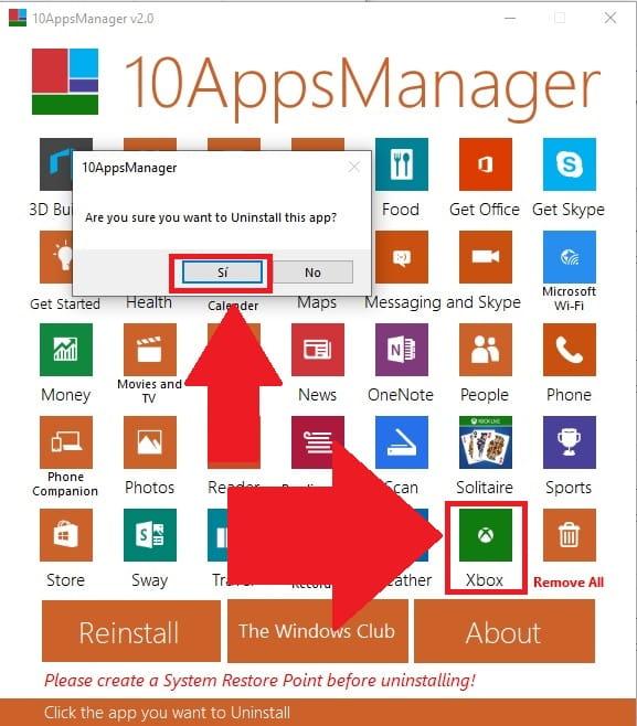 como desinstalar programas preinstalados en windows 10