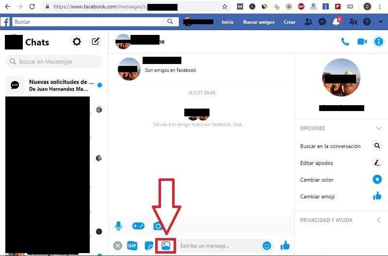 enviar archivos mayores de 25 megas por facebook.