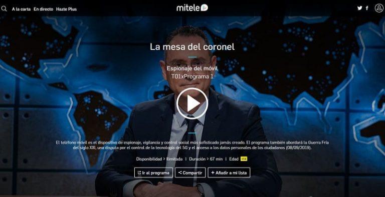 Ver La MESA Del CORONEL Pedro Baños Online 2021 🥇