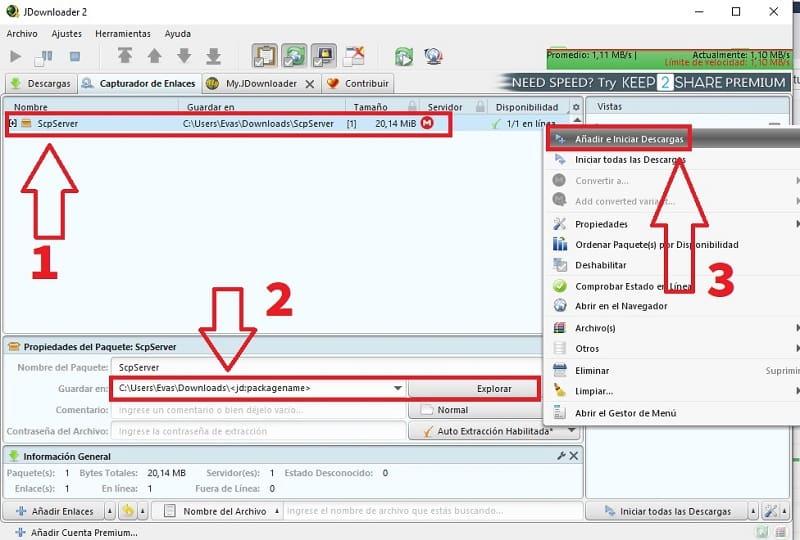 como configurar jdownloader 2
