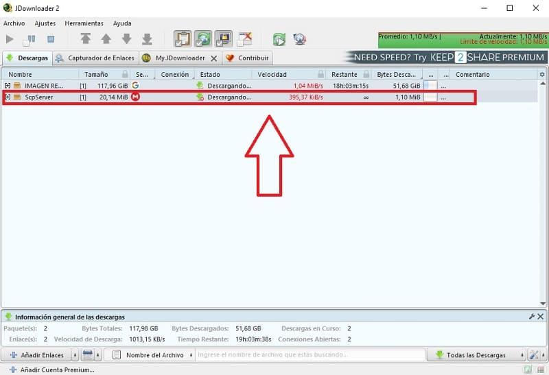 como configurar jdownloader 2 para descargar mas rapido