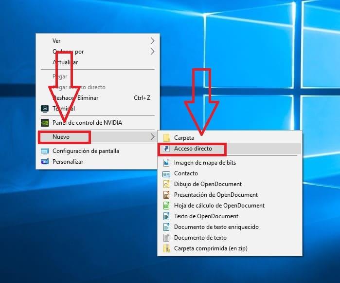 crear un acceso directo del explorador oculto de windows 10 en la barra de tareas.