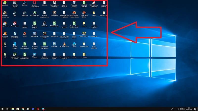 agrandar los iconos del escritorio windows 10