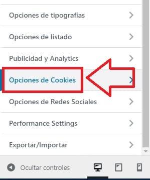 poner las cookies en orbital rgpd.