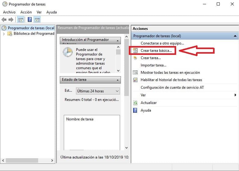 configurar pc para apagar automaticamente windows 10