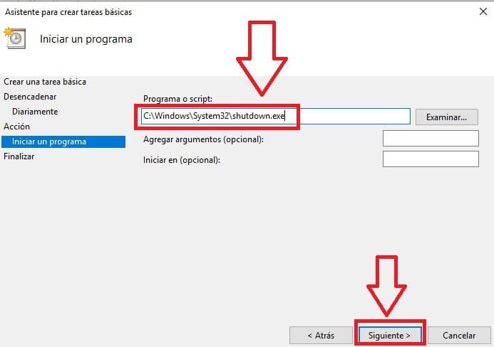apagado automatico windows 10 programador de tareas