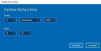 cambiar fecha y hora windows 10