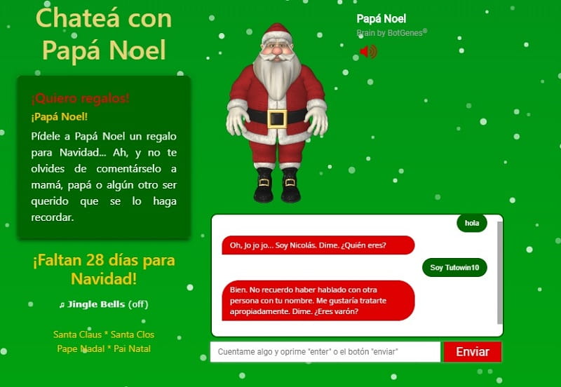 chatear con papa noel real