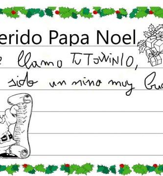 escribir una carta a papa noel en el pc.