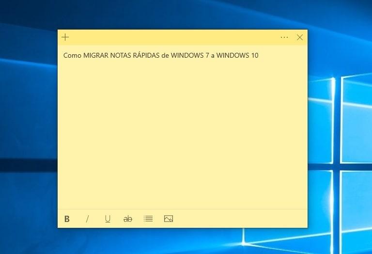recuperar notas rapidas de windows 7 a windows 10