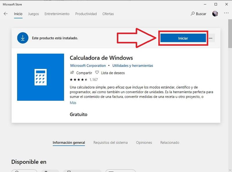calculadora descargar windows 10