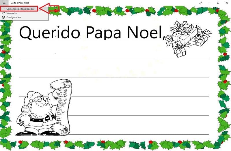 carta a papa noel app.
