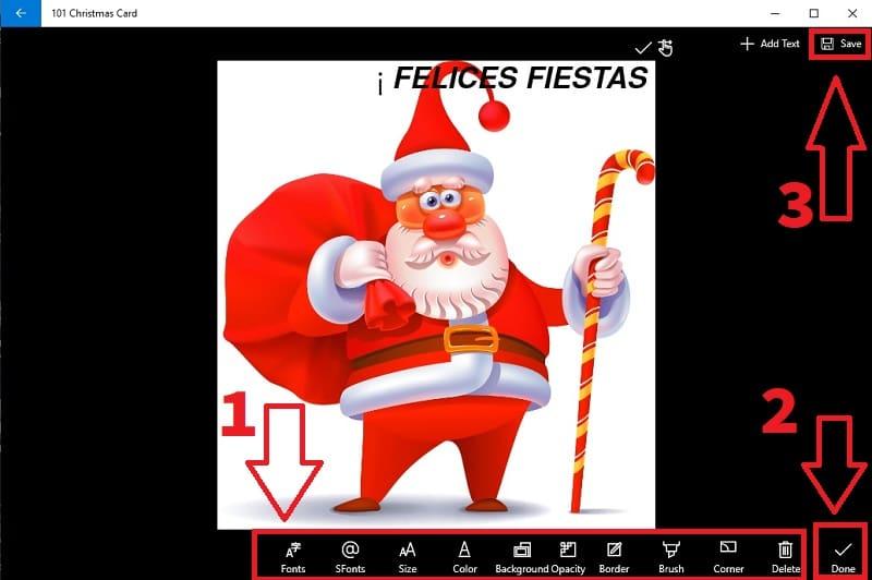 crear postales de navidad online