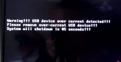 warning usb device over current detected please remove overcurrent usb device
