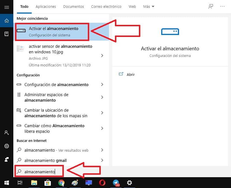 liberar espacio de almacenamiento windows 10