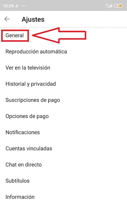 activar modo oscuro youtube android