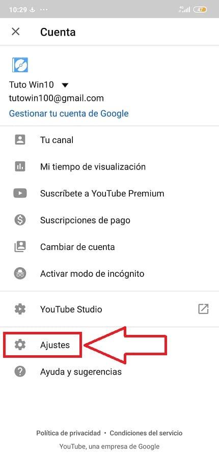 como activar modo oscuro youtube android