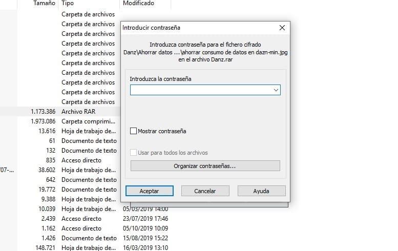 abrir archivos rar contraseña online