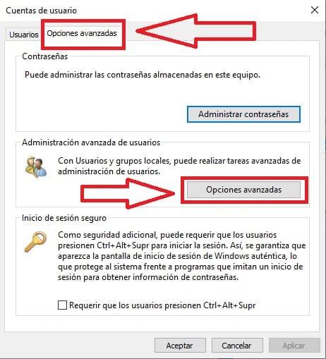 Establecer fecha en una cuenta local de Windows 10