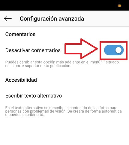 evitar comentarios en una publicación de instagram.