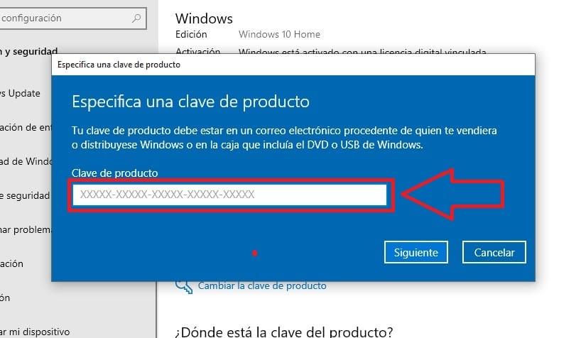 clave generica para windows 10