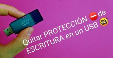 como quitar proteccion de escritura del usb
