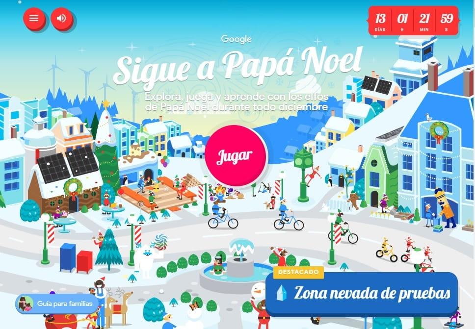 el recorrido de papá noel minuto a minuto con google earth