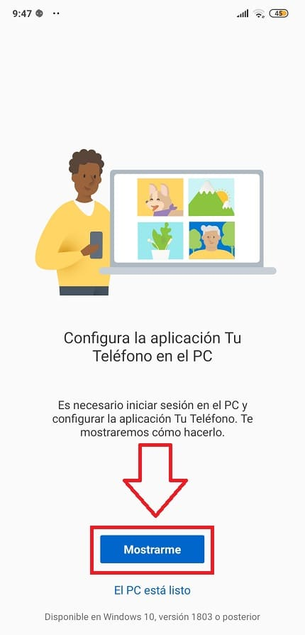 vincular telefono android a windows 10