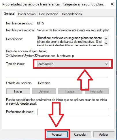 arreglar el error 0x80070424 en Windows 10