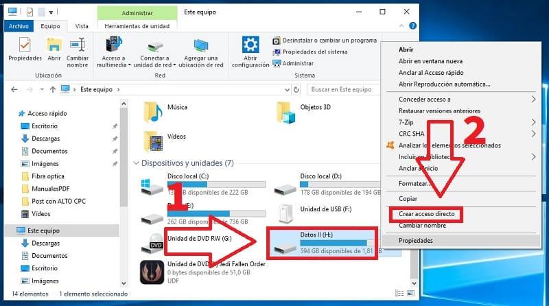 4 anclar disco duro en barra de tareas
