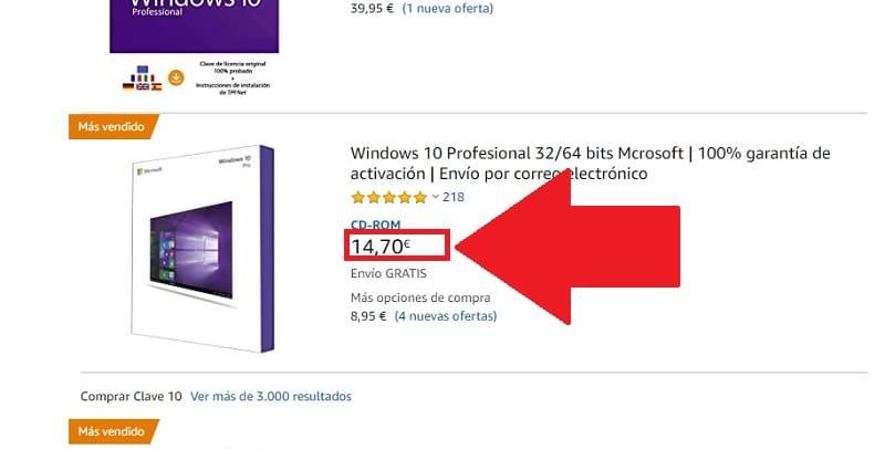 compra de windows 10
