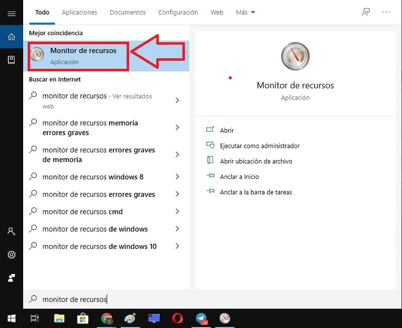 monitor de recursos cpu