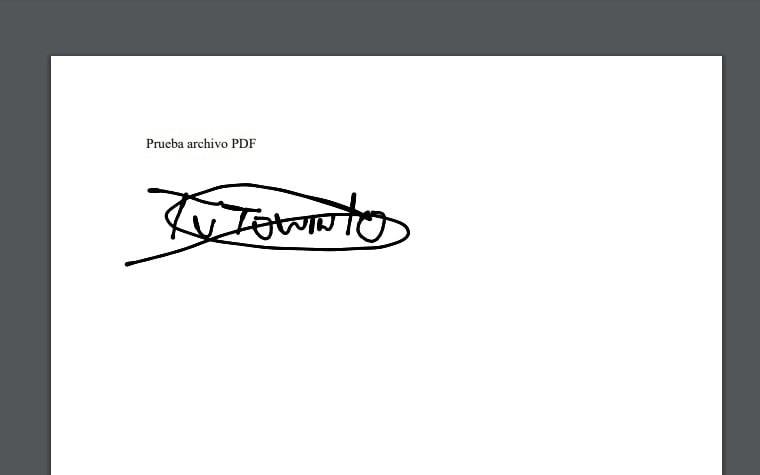 firma digital de documentos