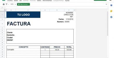 plantilla factura de Excel gratis