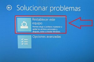 como resetear windows 10 sin contraseña