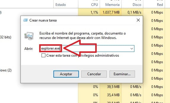 explorador de archivos windows 10 no funciona