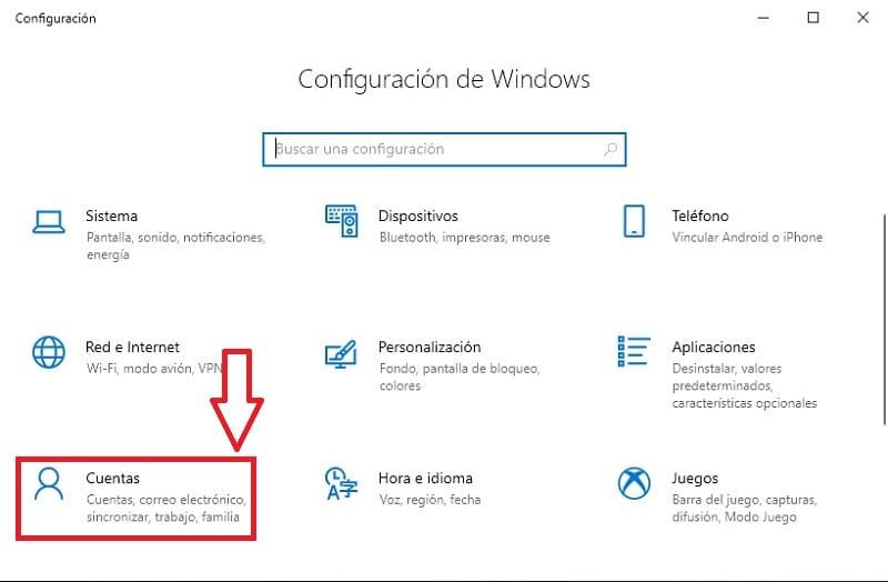 cambiar contraseña inicio de sesion windows 10